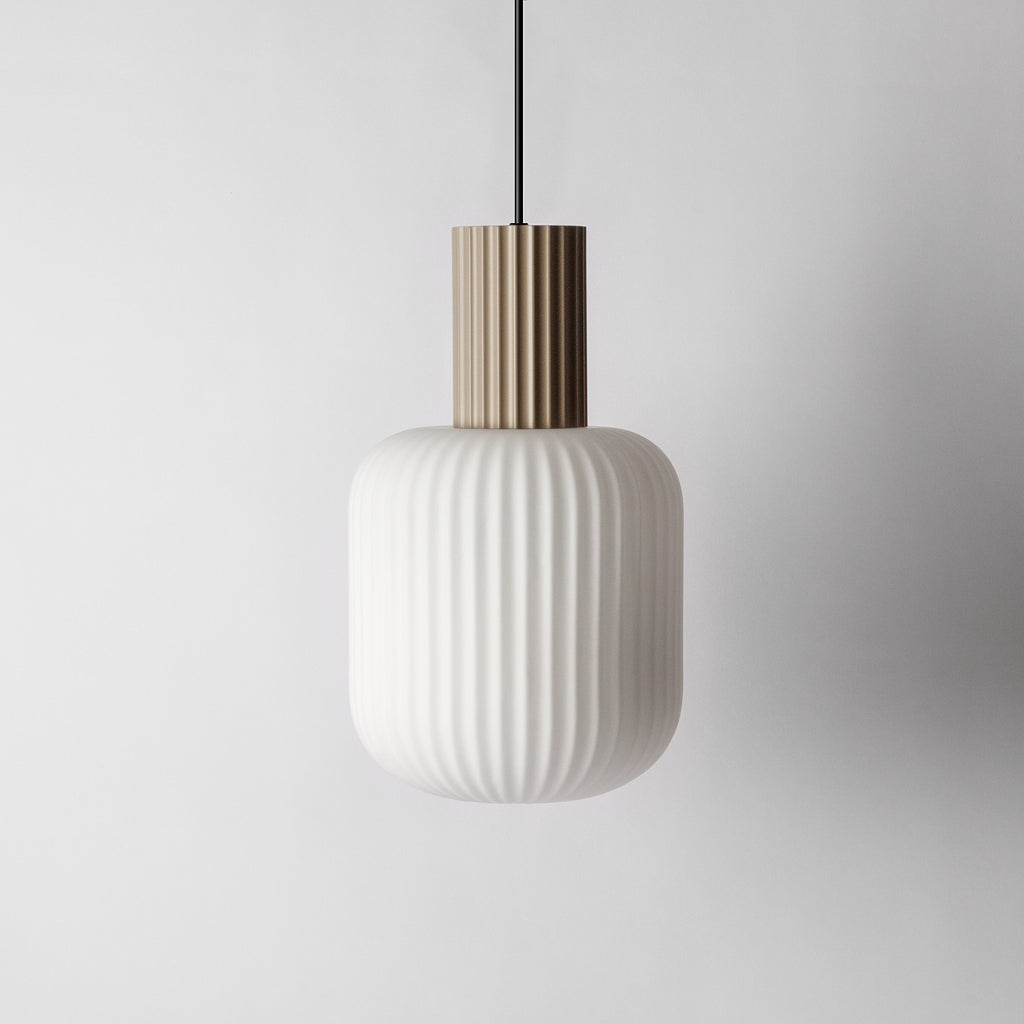 Scalloped Pendant Light