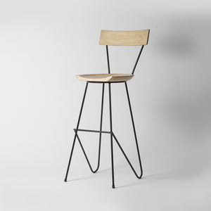 Scandi Bar Stool With Back