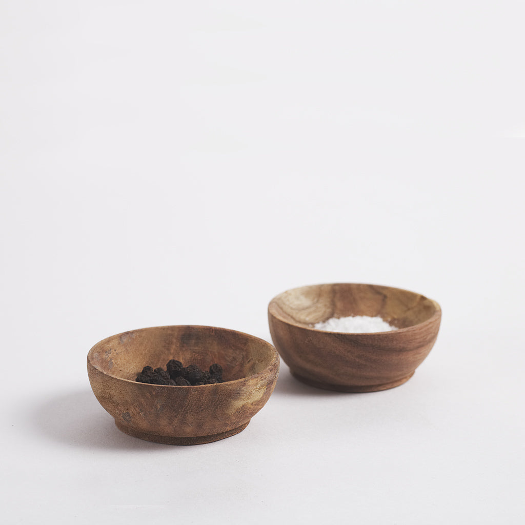 Musso Mini Wooden Pinch Pots, Acacia