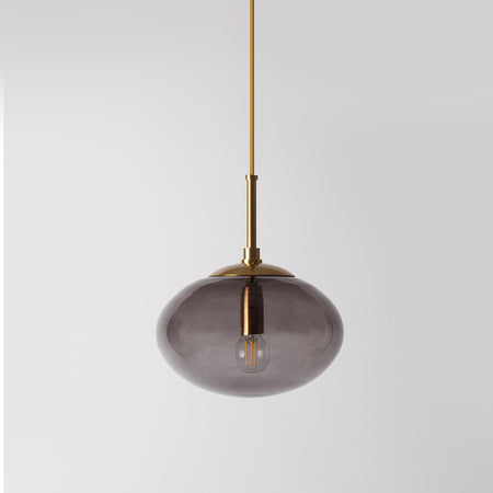 Smoked glass pendant light