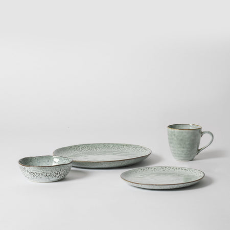 Blue Scandinavian tableware set