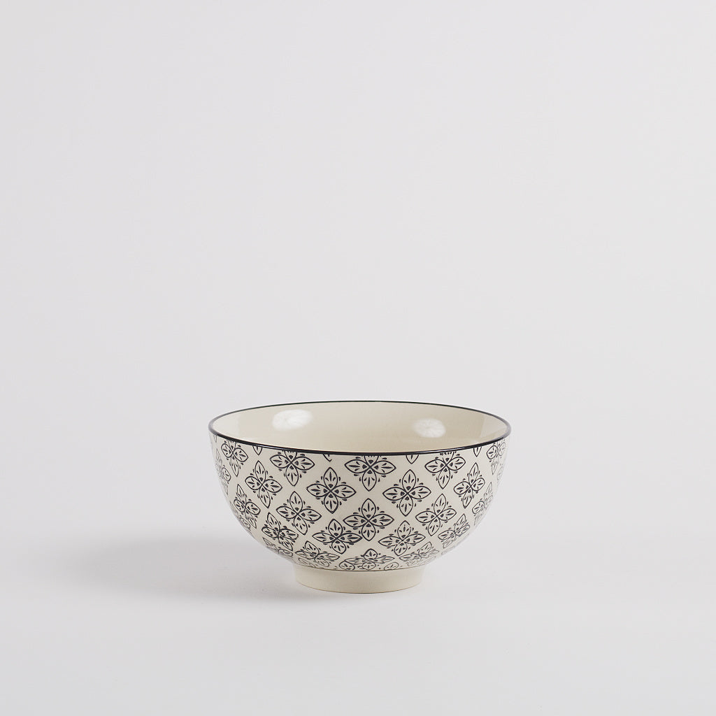 Stockholm Hand Printed Soup Bowl