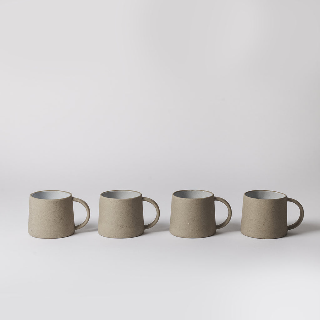 Stoneware Coffee Mugs, Cream