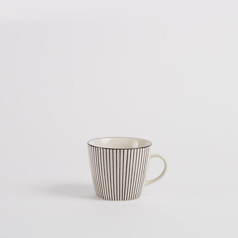 Stockholm Stoneware Coffee Mug, Striped