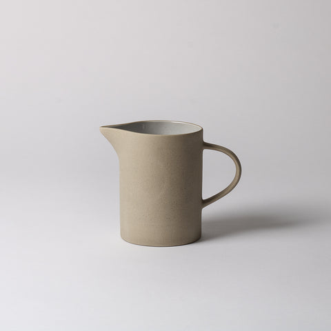 Cream Stoneware Pitcher