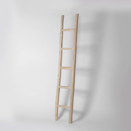 Teak towel ladder