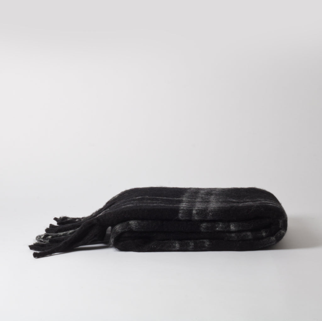 Sloe Black Throw