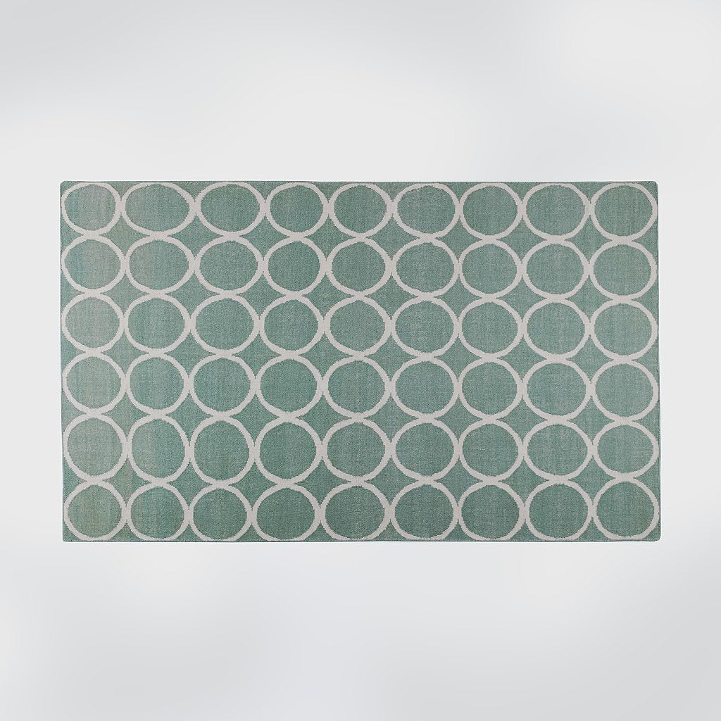 C.P. Turquoise Flat Weave Rug