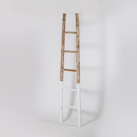 Wooden Towel Ladder, White