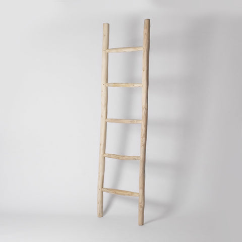 Teak decorative ladder