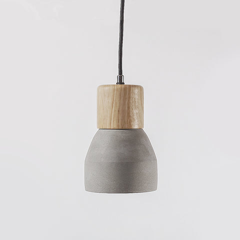 Loft Wood and Concrete Pendant