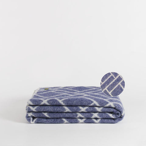 Hygge Wool Throw, Blue