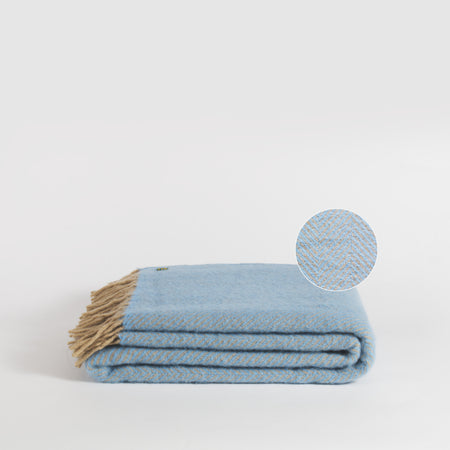 Forje Wool Throw, Sea Blue