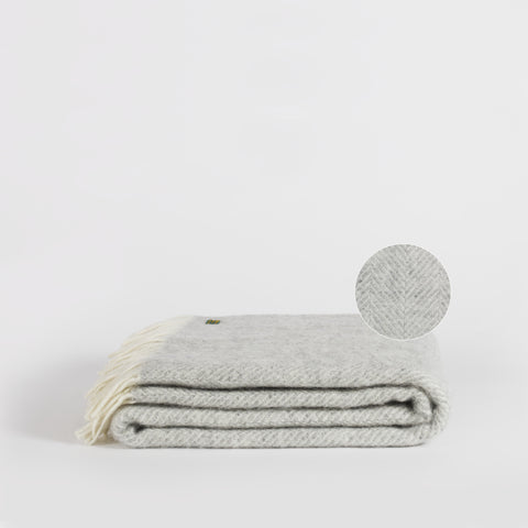 Forje Wool Throw, Grey