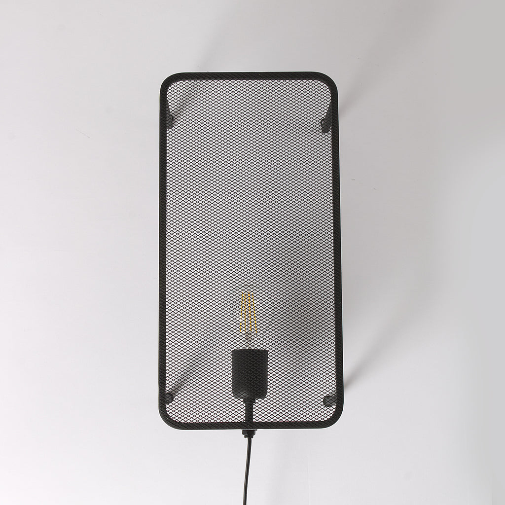 Black Mesh Wall Light
