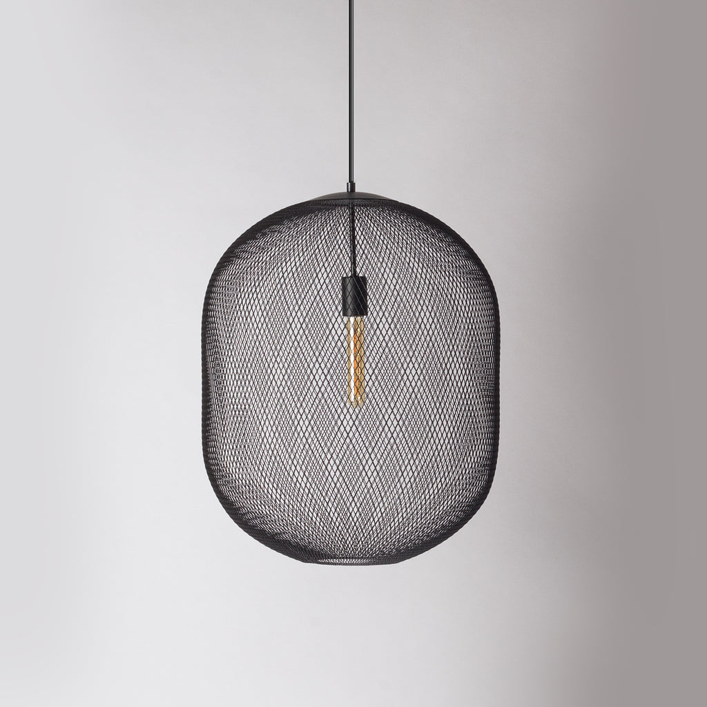 Black mesh pendant light