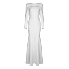 White Star Evening Party Dress