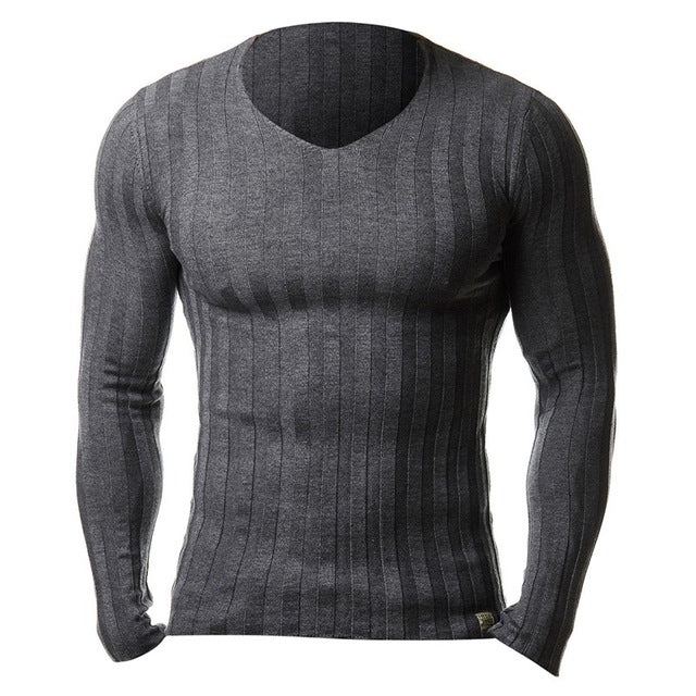 2017 New Men's Autumn Winter Warm Brand Casual Sweater Long Sleeve Striped Fitness Knitted Sweaters Pullover Men Top Plus Size - alice-star.com