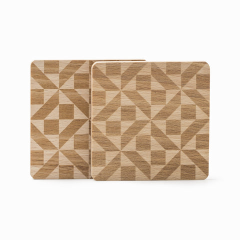 Mosaic Wooden Coasters (Set of 2)