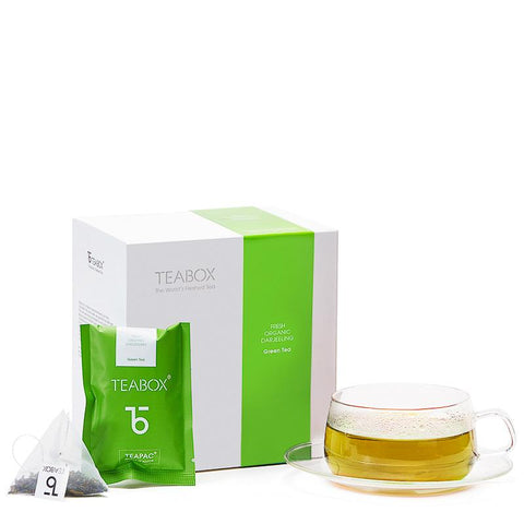 Organic Green Tea with Orbit Cup & Saucer