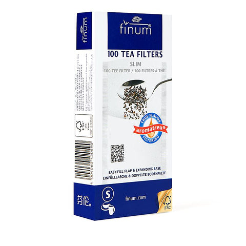 Finum Paper Tea Slim Filters (Pack of 100)