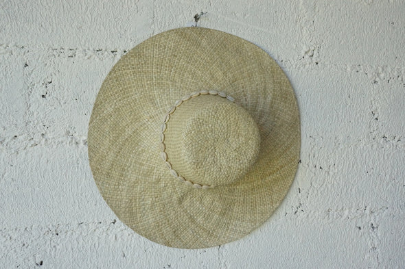 Beach Hat Round With Shell Natural