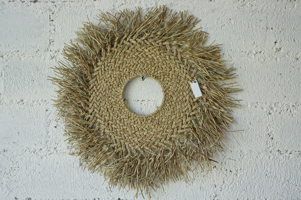 Curly Mandong Wall Hanging Natural