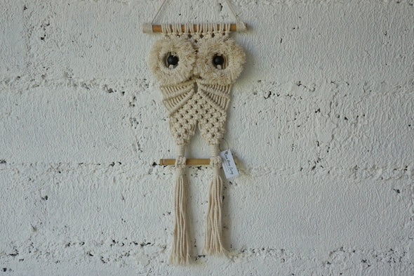 Macrame Mini Owl Black