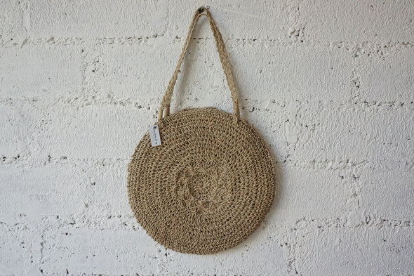 Round Bag Long Handle Natural