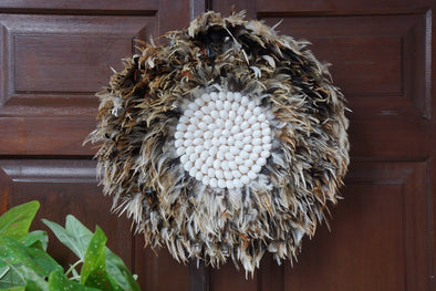 Wall Decor Feather And Shell 028