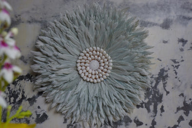 Wall Decor Feather And Shell 033