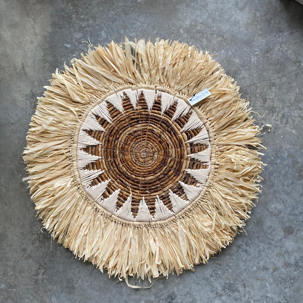 Placemat Banana Raffia Tribal