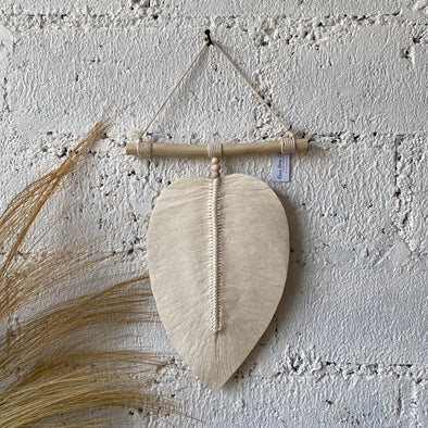 MACRAME LEAF SINGLE LARGE
