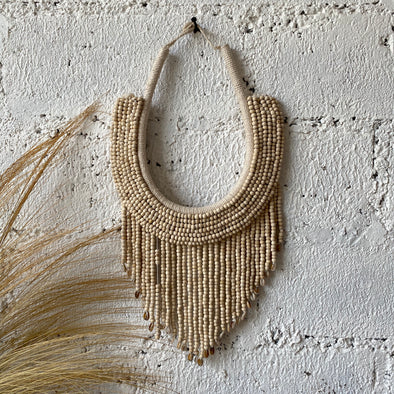 NATURAL BEADED NECKLACE HANGING