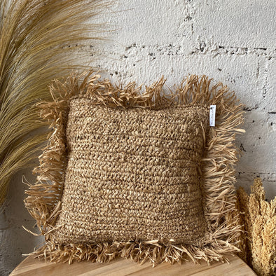 CUSHION COVER RAFFIA NATURAL