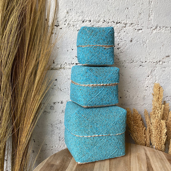 BALI BEADED BOX SET OF 3 A-9
