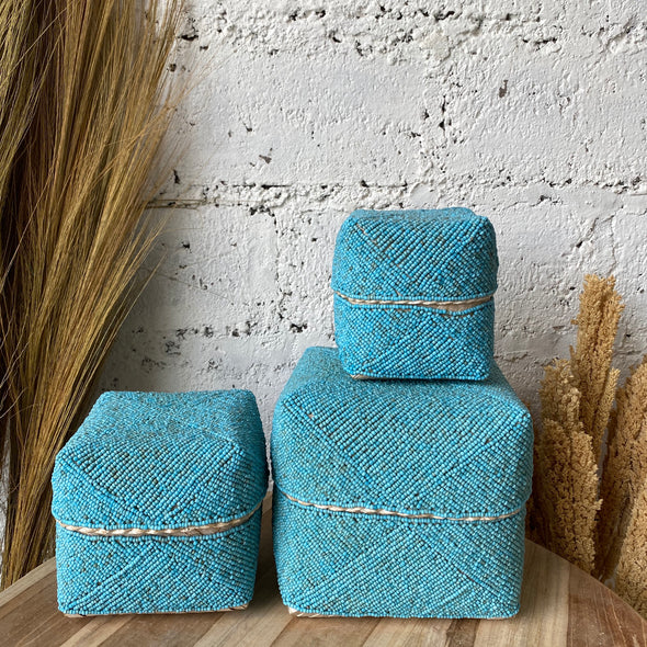 BALI BEADED BOX SET OF 3 A24