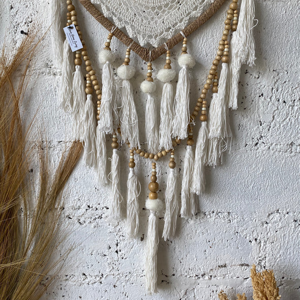 DREAM CATCHER POMPOM LOVE CREAM