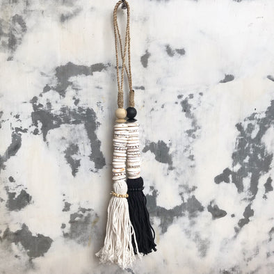 Coin Tassels Black And Natural