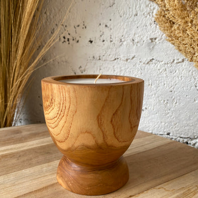 Candle Teak Tumbuk Medium