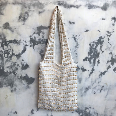 CROCHET BEADED TOTE