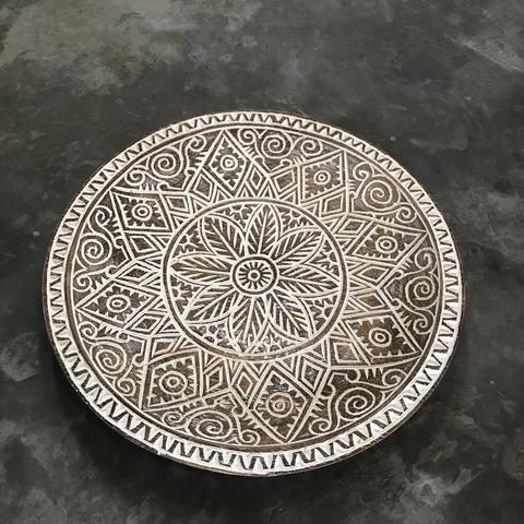 Plate Carving Blackwash A-2