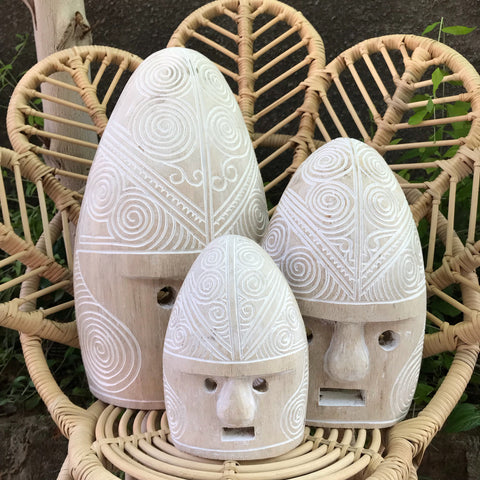 MASK CARVING WHITEWASH