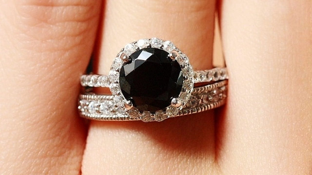 Celebrity Black Diamond Engagement Rings And Jewellery