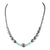 Blue Diamonds & Fancy Black Diamond Beads Necklace- Free Diamond Studs