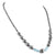 Blue Diamonds & Fancy Black Diamond Beads Necklace