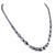 3-4 mm Black Diamond Necklace With Round And Fancy Shape Beads - ZeeDiamonds