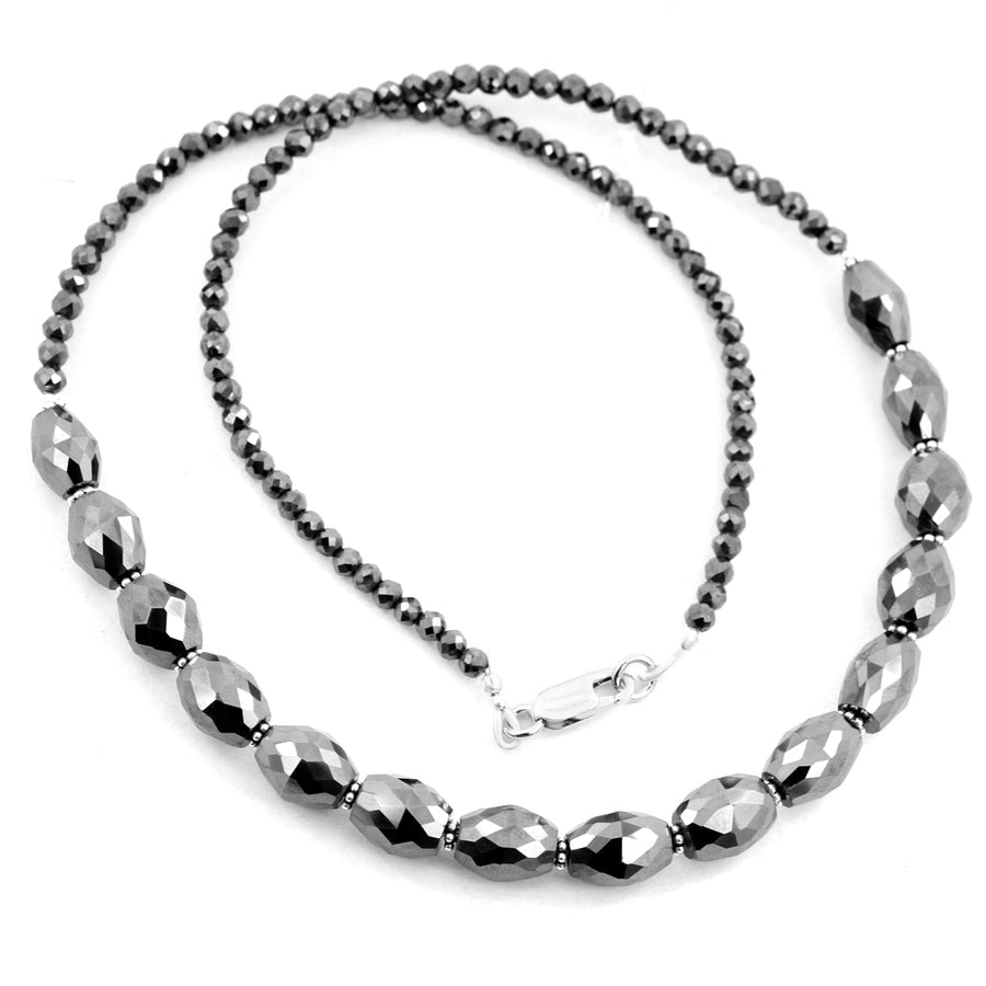 Gift Your Loved One This Spectacular Black Diamond Necklace With Studs