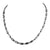 Designer 2mm And Fancy Pipe Shape Black Diamond Beads Necklace