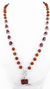 54 beads Rudraksha & Ruby Necklace with Guru Bead